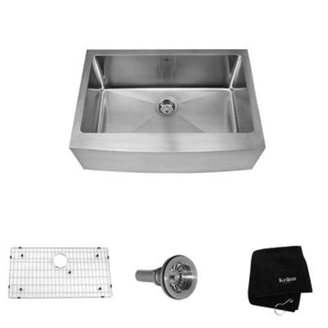 Home Depot Stainless Farm Sink by Kraus Farmhouse Apron Front Stainless Steel 30 In 0