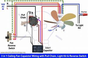 Wiring Diagram For Ceiling Fan Pull Switch