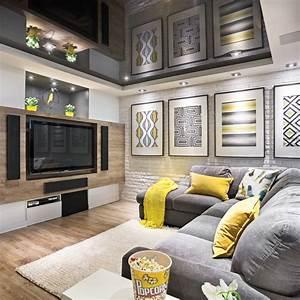 Decoration sous sol idees amenagement accueil design et for Salle de bain design avec décoration cinéma maison