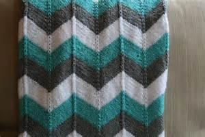 Chevron Baby Blanket Knit Pattern-Free