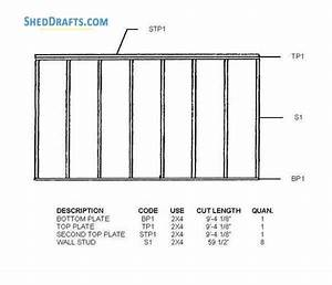 8 U00d710 Lean To Garden Shed Plans Blueprints For Beautiful