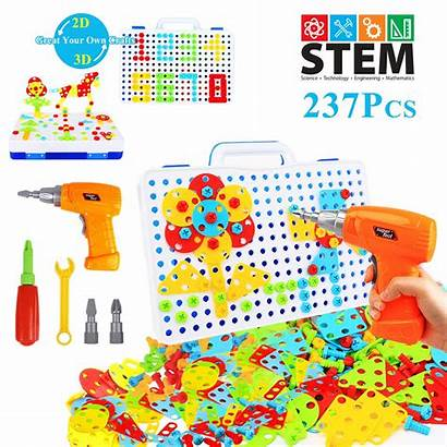 Toys Educational Drill Stem Blocks Building Electric