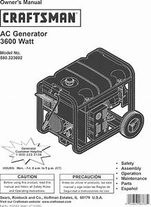 Craftsman 580323602 User Manual Ac Generator Manuals And