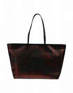 fendi large leather bag in black lyst With fendi letter bag