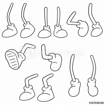 Cartoon Leg Vector Comp Contents Similar