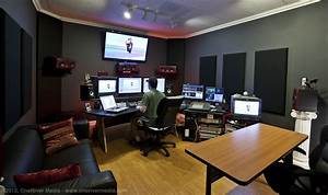 this is an example of a TV editing suite which could be ...