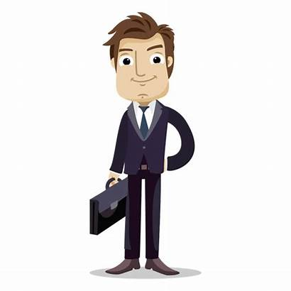 Office Businessman Bag Holding Business Transparent Cartoon