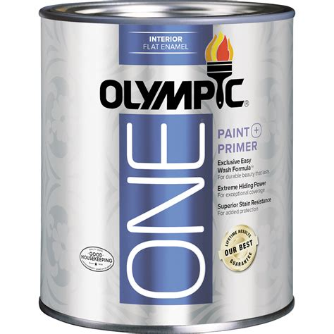 lowes paint colors with primer shop olympic one one tintable flat enamel interior