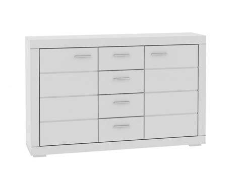 Sideboard Snow Anrichte Weiß 2 Türen, 4 Schubladen