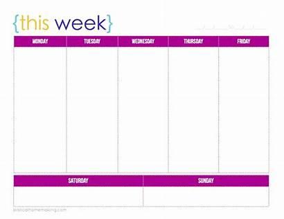 Printable Weekly Planner Calendars Calendar Week Template