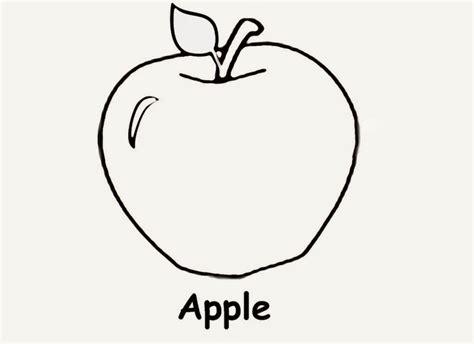 gambar mewarnai apel gambar mewarnai lucu
