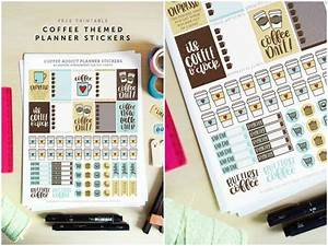 Day Designer Stickers Coffee Themed Printable Planner Stickers Diycandy Com