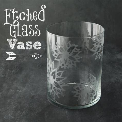 diy etched glass vase white lights  wednesday