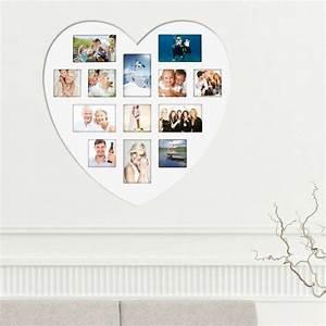 Fotos Als Collage : herz bilderrahmen collage wei er holz bilderrahmen in herzform ~ Markanthonyermac.com Haus und Dekorationen
