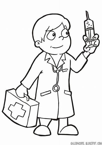 Dokter Gambar Pekerjaan Mewarnai Untuk Profesi Kartun