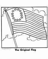 Coloring Flag Colonies American Popular sketch template