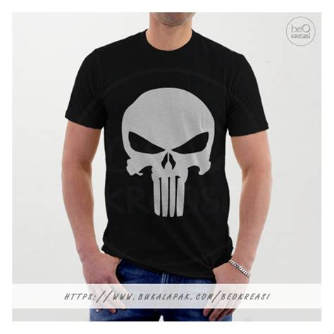 Kaos Punisher 5 jual kaos t shirt punisher hitam logo tengkorak