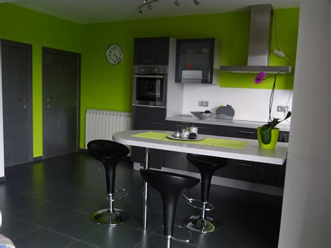 vervenne cuisine déco cuisine gris et vert anis