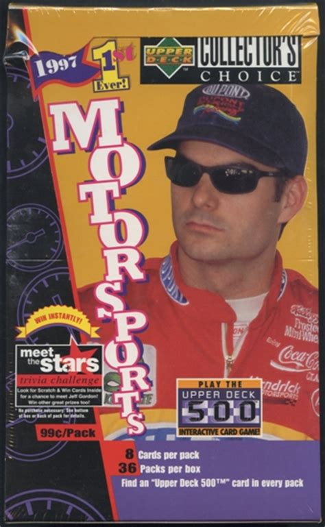 1997 upper deck collector s choice racing prepriced box