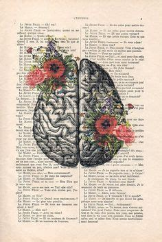Springtime Mind Flowers Brain Nature Inspired Print
