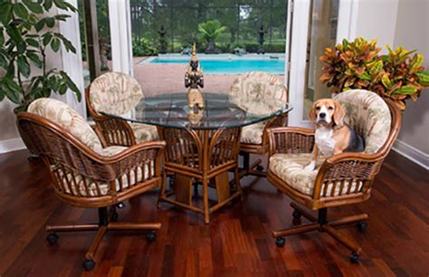 rattan dinette rattan tables wicker tables chairs