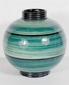 Art Deco Ceramic Sphere Vase By Ilse Claussen For