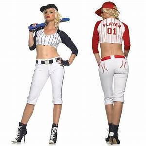 WD Lingerie - FANCY DRESS BASEBALL PLAYER COSTUME / LADIES BASE BALL OUTFIT / ADULT SPORTS ...