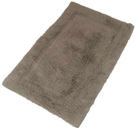 luxurious  soft cotton fluffy stone taupe rug bathroom