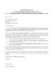 Cover Letter For Professional Resume by Professional Resume Cover Letter Sles Sle Resumes