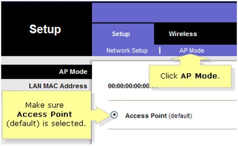 Linksys Official Support Configuring An Access Point As Linksys Official Support Configuring An Access Point As