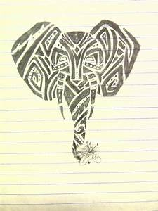 Cartoon Drawing Elephant - PENCIL DRAWING COLLECTION