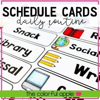 daily schedule cards  images daily schedule cards