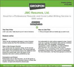 use your groupon on jc resumes