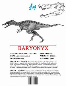 Image  Ingen Dinosaur Info Sheets Baryonyx jpg Juric Park wiki FANDOM powered by Wikia
