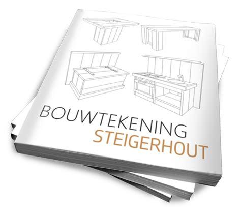 steigerhout bed maken tekening bouwtekening steigerhout nr 1 bouwtekeningen website