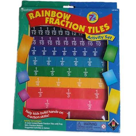 rainbow fraction tiles math set educational toys planet