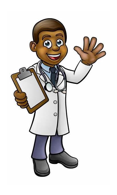 Doctor Cartoon Clip Character Waving Vector Child