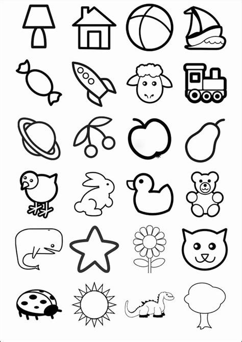 disegni facili disegni facili da colorare per bambini piccoli incantevole