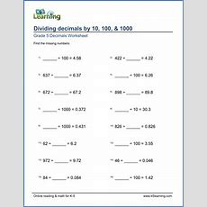 Grade 5 Division Of Decimals Worksheets  Free & Printable  K5 Learning