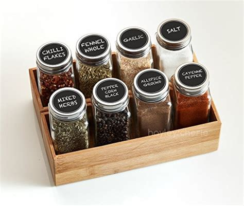 Buy Spice Jars by Hayley Cherie 6 Oz Large Square Glass Spice Jars Set Of