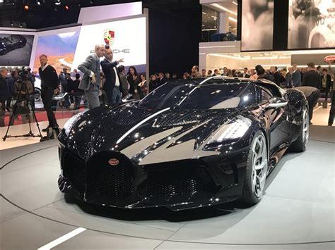 bugatti la voiture noire la  chere du monde