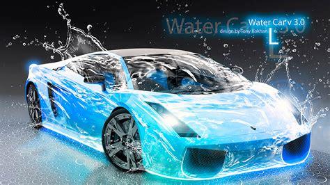 car lamborghini blue water el tony
