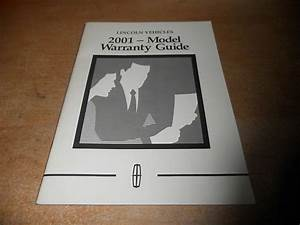 2001 Lincoln Town Car Navigator Warranty Owners Manual