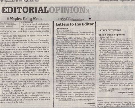 daily news letters   editor letters  sample
