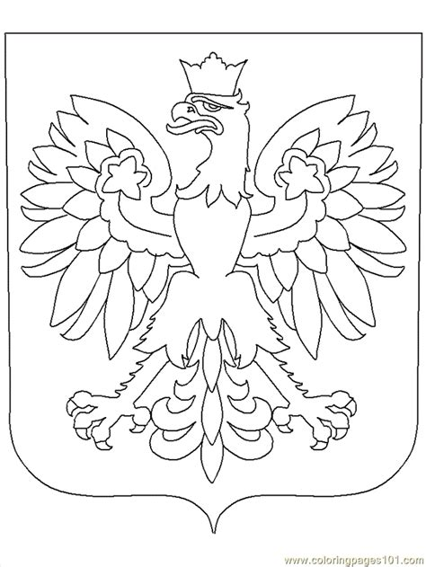 poland coloring page  poland coloring pages