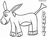 Donkey Coloring sketch template