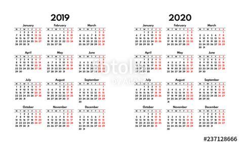 simple calendar grid starts monday weekend stock
