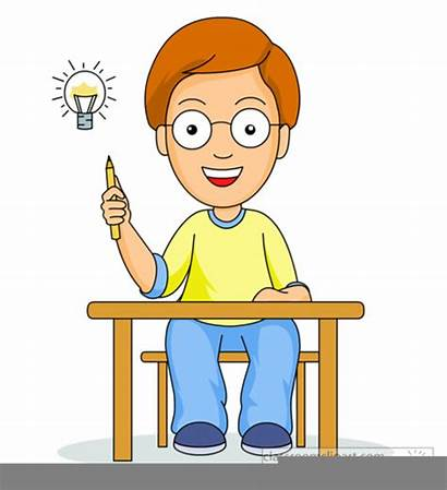 Clipart Thinking Students Clip Cliparts Clker Vector