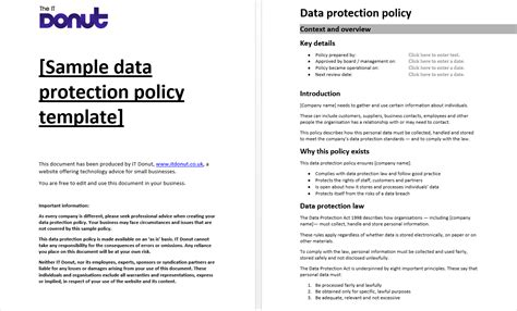 sample data protection policy template gdpr data mapping