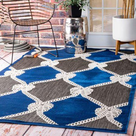 nautical rugs for boats nuloom indoor outdoor nautical ropes porch blue rug 8 x